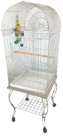 Economy Dome Top Cage In White