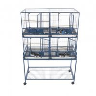 Four Unit Flight Cage With Stand And Removable Dividers.