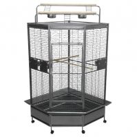 A&E Large Corner Cage With Play Pen Top