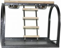 A&E  Table Top Bird Stand With Ladders And Cups