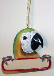 Christmas Ornament African Grey, Macaw, Amazon, Or Parakeet