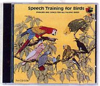 Pet Tapes CD, Speech Training For Birds With Booklet.