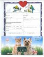 Pet Sitter Information Chart Six Pack