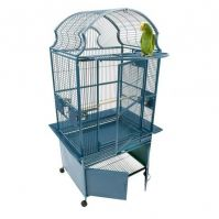 Small Victorian Cage with Lower Cabinet 24X22X62 Inches
