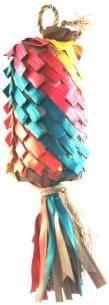Planet Pleasures Rainbow Pinata Diagonal Medium Bird Toy