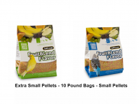Zupreem Fruit Blend 10 Lb Bags X-Small Or Small Pellets (Fruit Blend 10 Lb Bags Choose Pellet Size: Extra Small Pellets- Canaries, Finches and other very small softbills.)