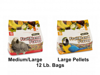 ZuPreem Fruit Blend 12 Lb Bags, Medium/Large Or Large Parrots (Fruit Blend 12 Lb Bags,Choose Pellet Size: Medium/Large Pellets-African Grey, Amazon. Small Cockatoo Etc.)