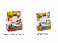 ZuPreem Fruit Blend 3.5 Lbs M/L Or Large Pellet Sizes (Fruit Blend 3.5 Lb Bags Choose Pellet Size: Medium / Large Pellets-African Grey, Amazon, Etc)