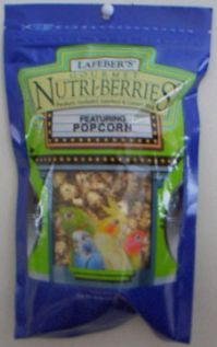 Lafeber's Popcorn Nutri-Berries Cockatiel Or Parrot (Popcorn Nutri-Berries Choose Species 4Oz. Or 1 Lb.: Cockatiel, 4 Ounces)