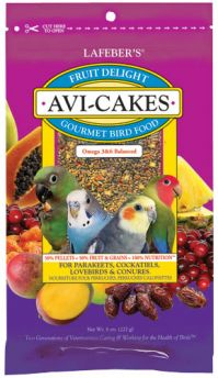 Lafeber's Fruit Avi Cakes, Small Bird Or Parrot (Fruit Avi Cake Choose Small Or Large Bird: Small Birds 8 Ounces)