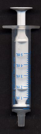 Hand Feeding Syringe IN Five Sizes (Syringe, Choose Size: SY5 (5 C.C.- Five Each))