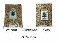 Sweet Harvest Parrot With Or Without Sunflower, 3 Lbs. (Parrot, 3 Lb, Select With  Sunflower, Or Without: KV0603-With Sunflower)