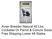 ZuPreem Avian Breeder Natural 40 Lb Bags, Two Sizes (Avian Breeder Natural, Choose Bird Type: Parrot & Conure)