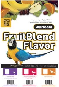 ZuPreem Fruit Blend 17.5 Lb, Medium/Large Or Large Parrots (Fruit Blend 17.5 Lb. Bags Choose Pellet Size: Medium Pellets- Cockatiels, Lovebirds, Etc.)